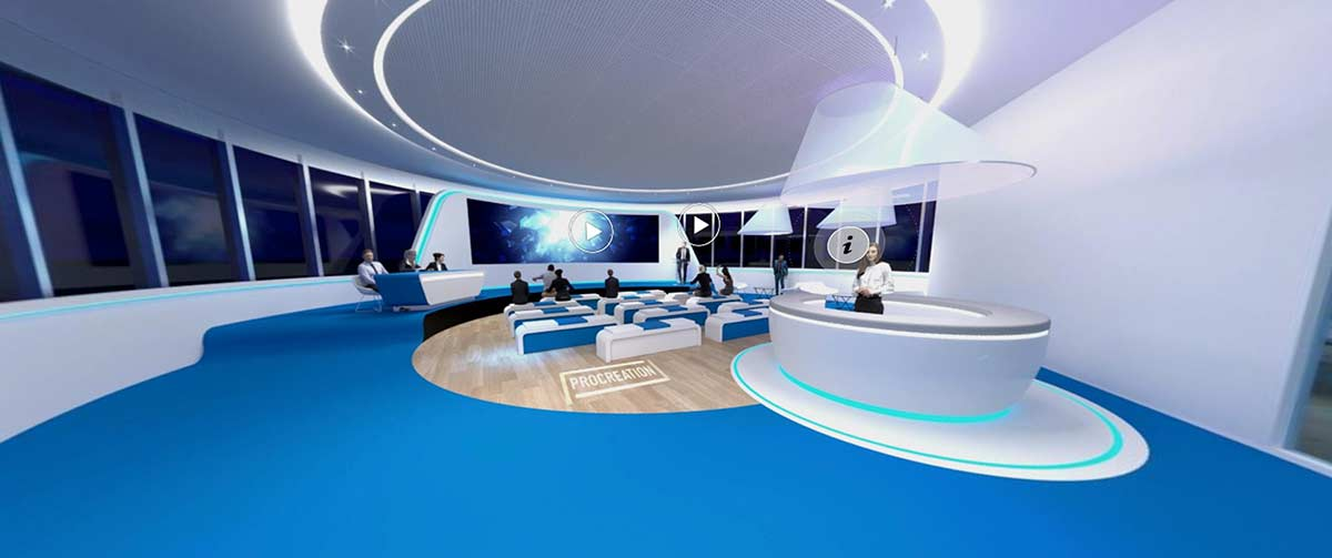 3D Experiential virtual events, exhibitions and meetings